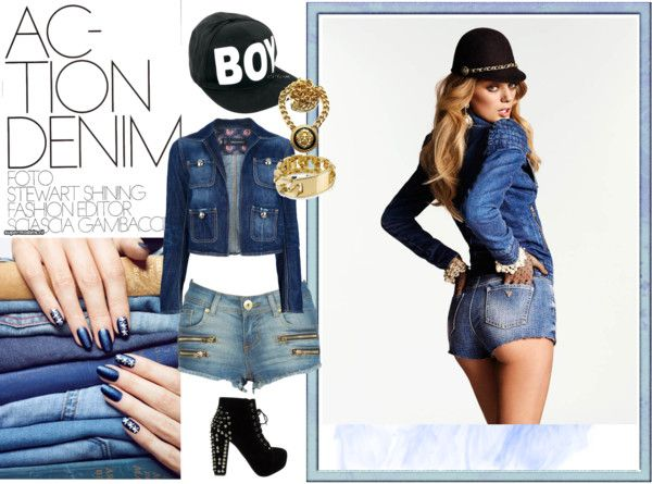 """Denim!"" by smashy-chick ❤ liked on Polyvore"