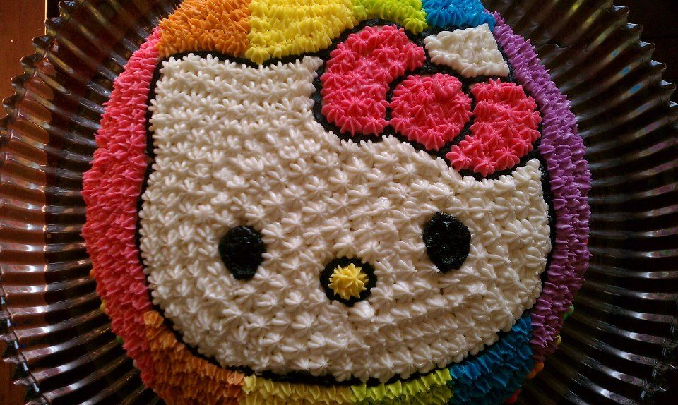 Pin By Victoria Davis On Fun Stuff For Kids Hello Kitty Cake Rainbow Layer Cakes Neon Food Coloring