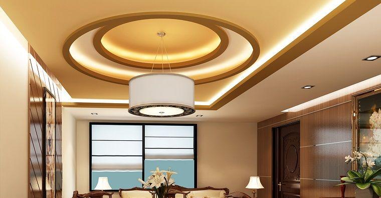 Falso techo de diseño moderno - cincuenta modelos LED, Iluminación - Techos Interiores Con Luces