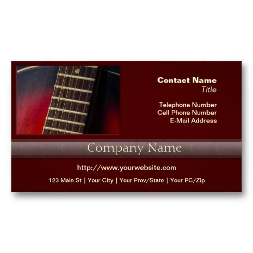 Red neck hollowbody guitar pick up business card guitar picks red neck hollowbody guitar pick up business card colourmoves