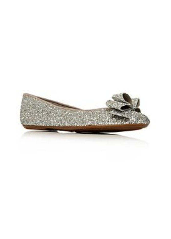 Flats Shoe | Carvela Silver Lolly Flat Shoes Glitter