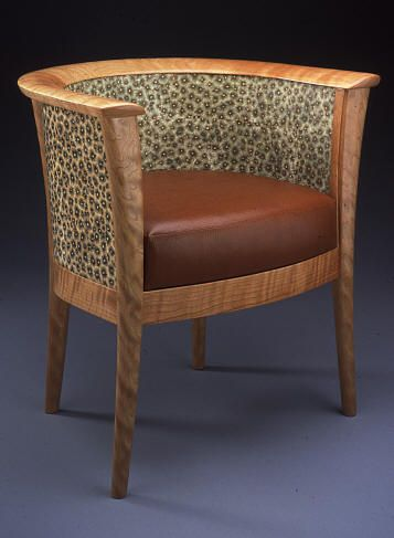 Syron and Bishoff, polymer clay veneer, applied to a chair
