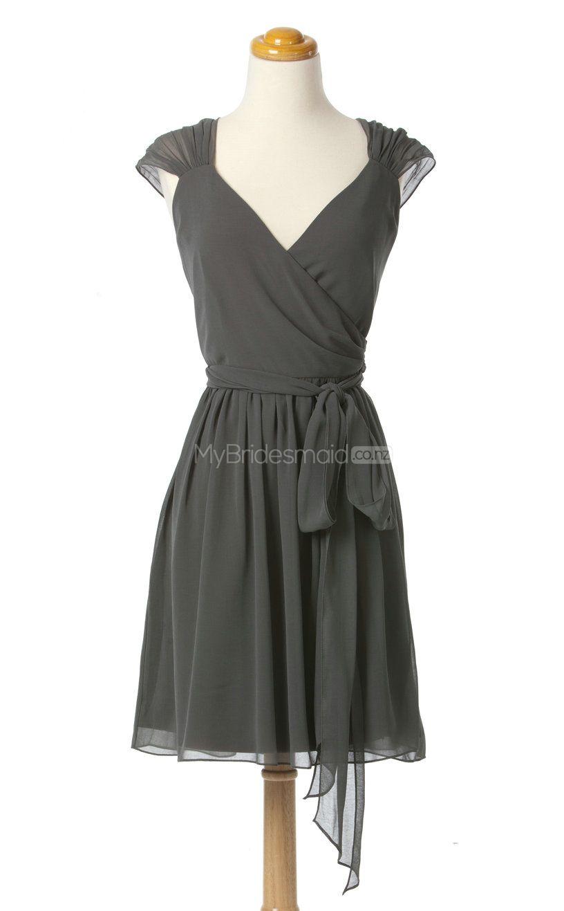 New arrive silver aline strapless chiffon bridesmaid dressesbsd