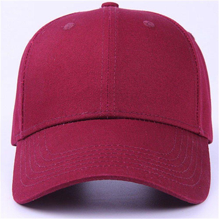 6pcs Classic Plain Red Cotton Baseball Caps 2018 Brand Men Blank Orange  Base Ball Hats Women 5f589654369