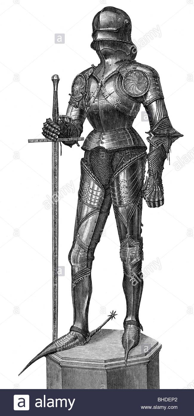 Dorable Knights Suit Of Armor Middle Ages Labeled Embellishment ...