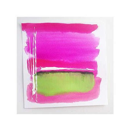 Green and Pink Abstract original painting on paper. This is mixed media watercolor and acrylic painting with ink accents on heavy weight watercolor paper. One of a kind ORIGINAL painting. This is not a print or reproduction.  The colors are vibrant and perfect for a Spring pick me up in any room or existing gallery wall.  This watercolor piece was painted using fine art watercolors, acrylic and professional cold pressed, 140 lbs. watercolor paper. Perfect for the Preppy, Palm Beach Chic…