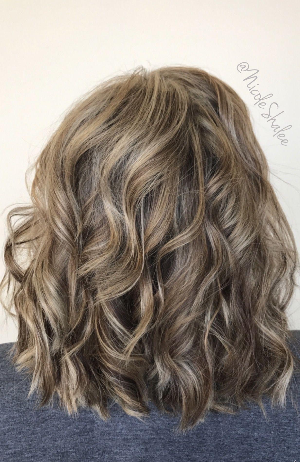 Lob Long Bob Beach Waves Bronde Hair Sandy Brown Hair Sandy Blonde Hair Curled Hair