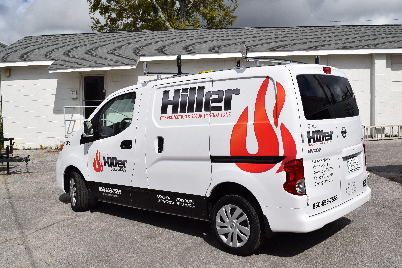 3m Fleet Wraps On Hiller Van Printed And Installed By Signgeek