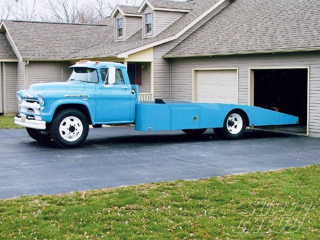 1957 Chevy C O E Tropical Turquoise Car Hauler Transportation