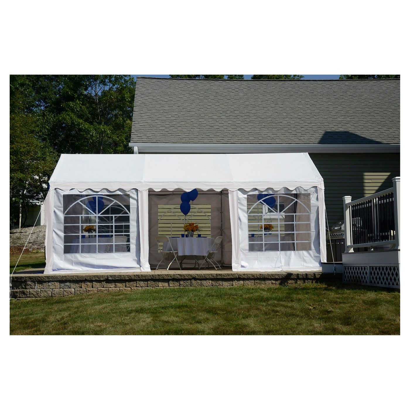 Shelter Logic 10x20 Party Tent and Enclosure Kit White