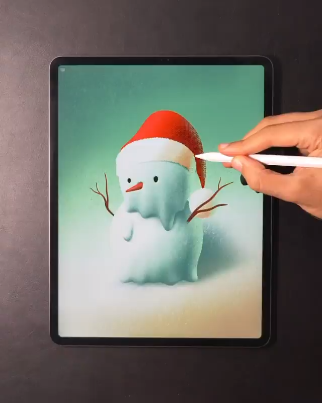 I announce the beginning of Christmas art.