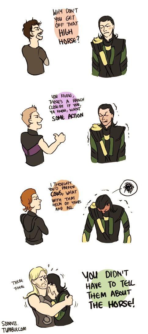 Poor Loki being teased with horse jokes  No regrets about Sleipner