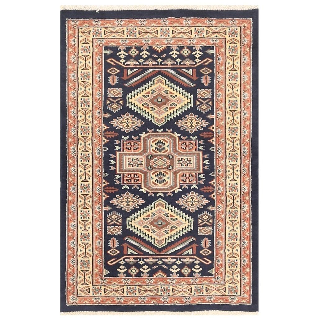 Herat Oriental Stani Hand Knotted Bokhara Wool Rug 2 8 X 4