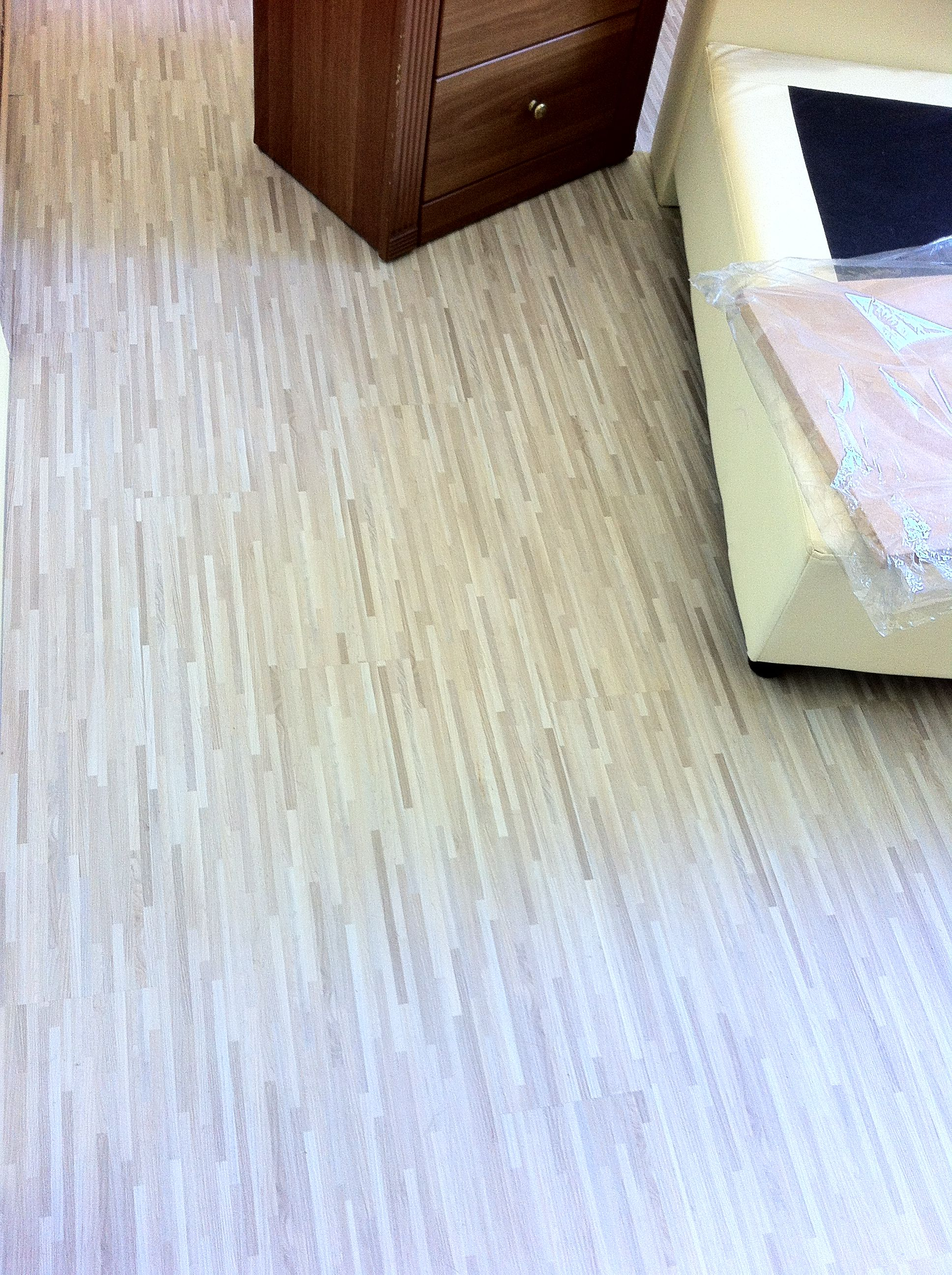 Made With Hardwood Solids With Cherry Veneers And Walnut: Vinyl Laminated Flooring Made Of 100% Recycled PVC