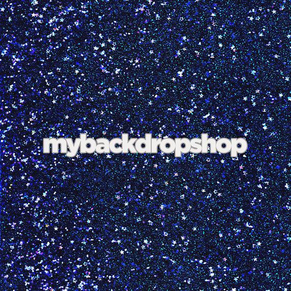 5ft x 5ft navy blue glitter backdrop starry night sky photography