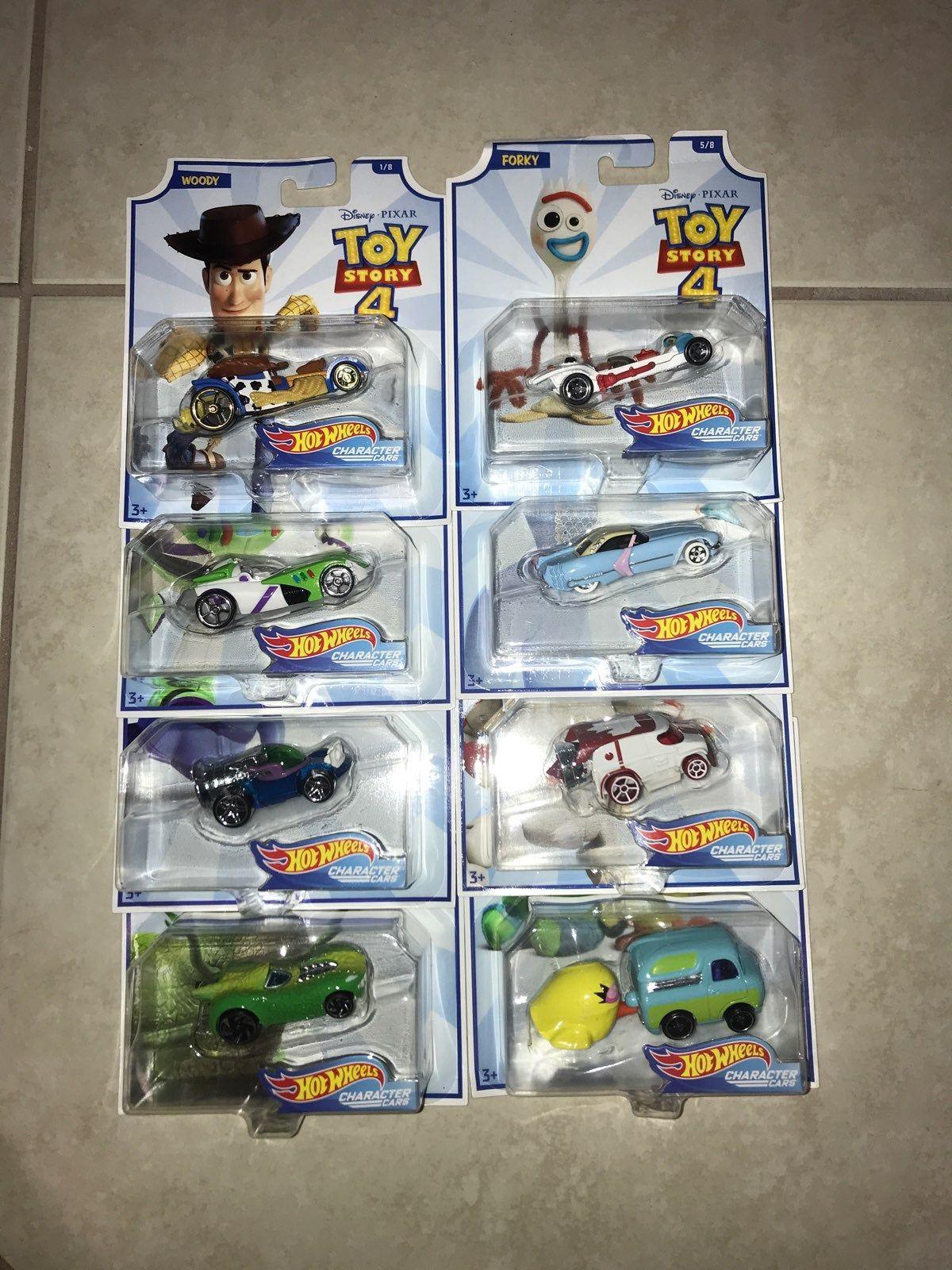 You Story 4 Disney Pixar Hot Wheels Character Cars Set Of 8 Woody Buzz Lightyear Alien Rex Forky Bo Peep Duke Caboom Ducky Hot Wheels Hot Wheels Cars Car Set