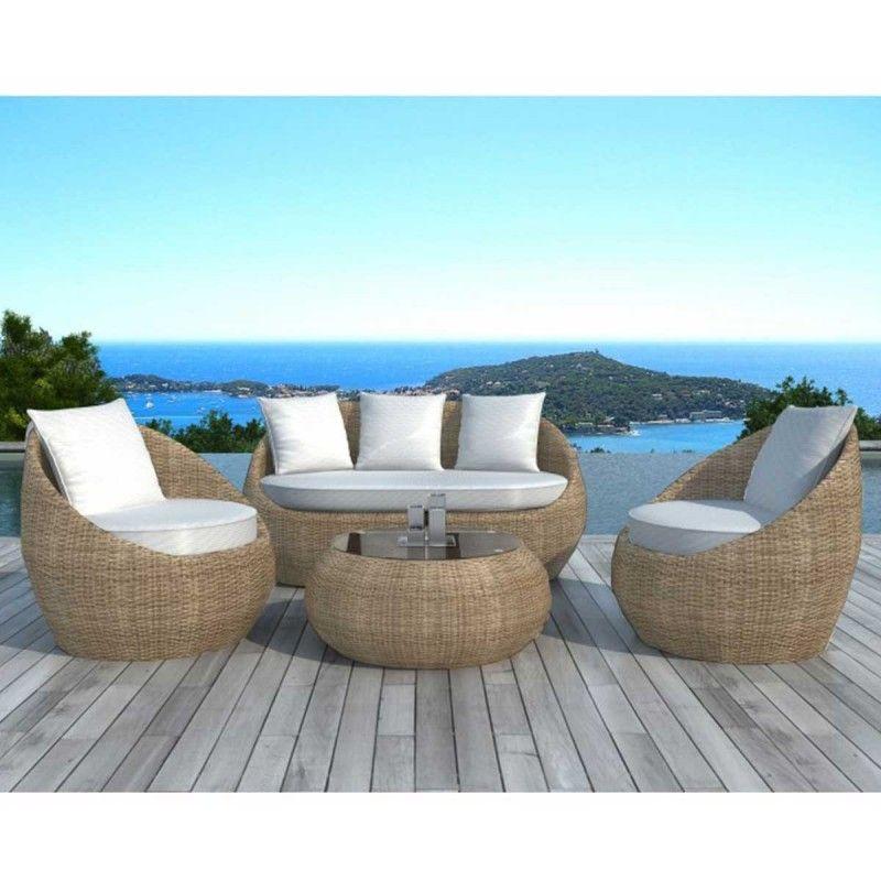 Salon de jardin design Rondo rotin | ATYLIA ♥ Exotic | Pinterest