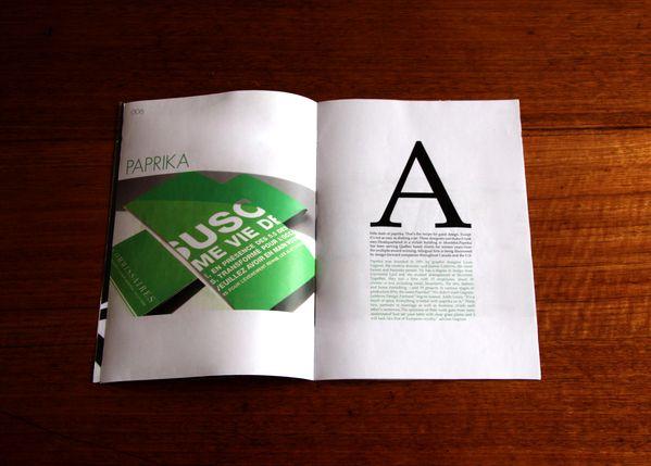Typography (MOD  - Editorial Design by Michael Schepis, via Behance)