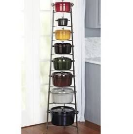 Enclume Hammered Steel 8-Tier Cookware Stand, CWS8 Handcrafted of extremely-durable carbon steel to richly display cast-iron cookware. - https://www.facebook.com/ChefsCatalogCouponCode