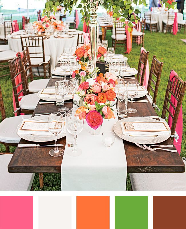 Christian Wedding Reception Ideas: Brights Are Back! 8 Color Palettes That Are Anything But