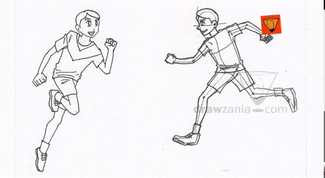 Anime Drawing Intermediate 26 Boy Running 02 Running Drawing Anime Drawings Boy Drawing