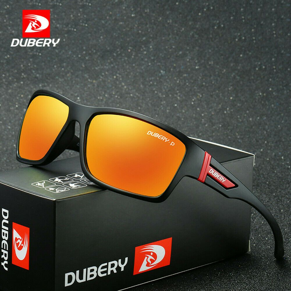 DUBERY Mens Polarized Riding Fishing Goggles Glasses Sport Outdoor Sunglasses