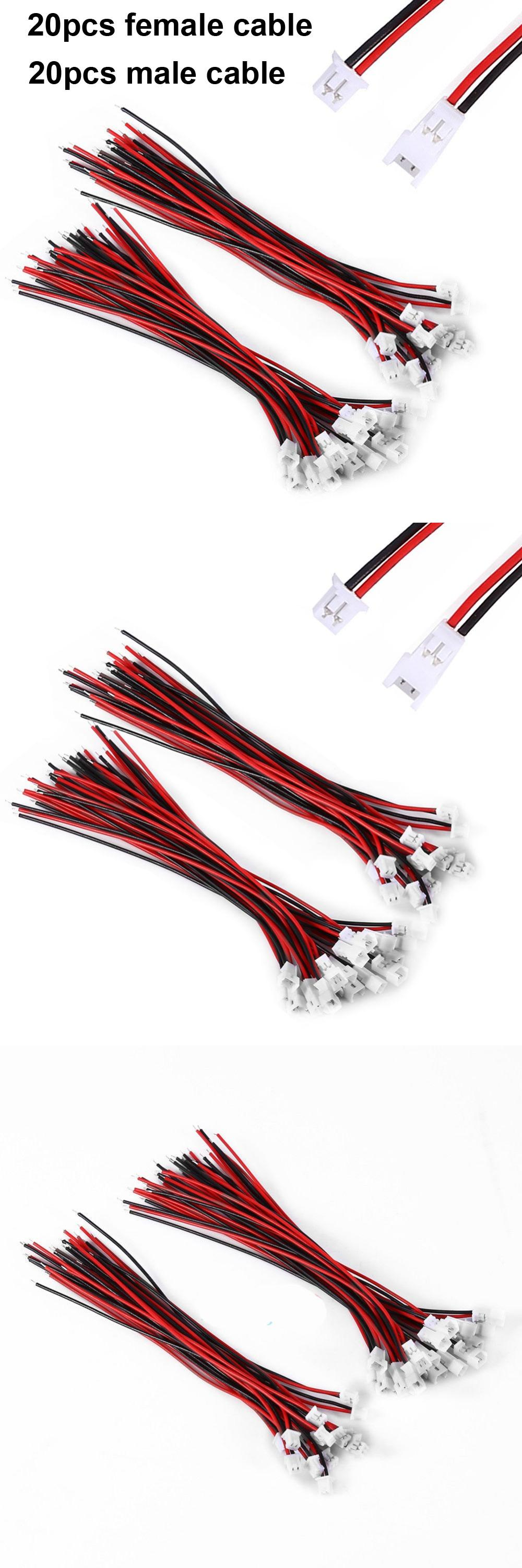 Visit to Buy] 20 Pair Micro JST 1.25 2-Pin Male &Female Connector ...