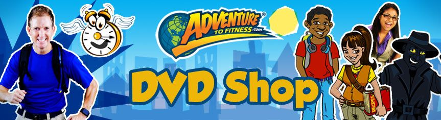 Dvd shop adventure to fitness kids workout video