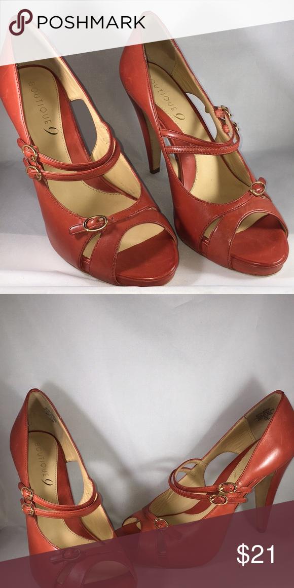 👠👠Boutique 9   Pinterest   Orange leather, Boutique and Leather shoes