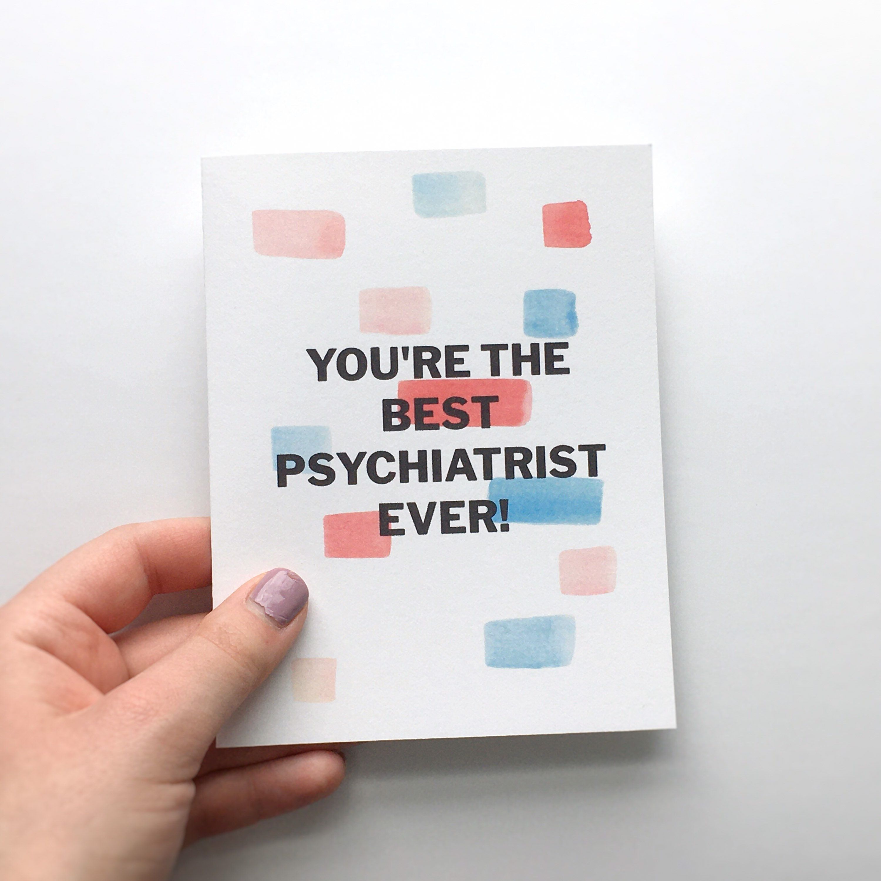 Best Psychiatrist Ever Greeting Card With Envelope   Etsy ...