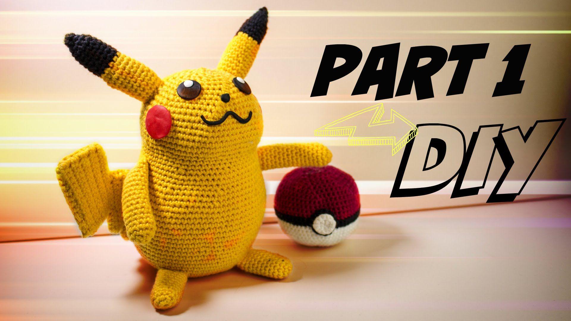 Pikachu (groß) Häkelanleitung Amigurumi DIY Part 1 | Gratis Video ...