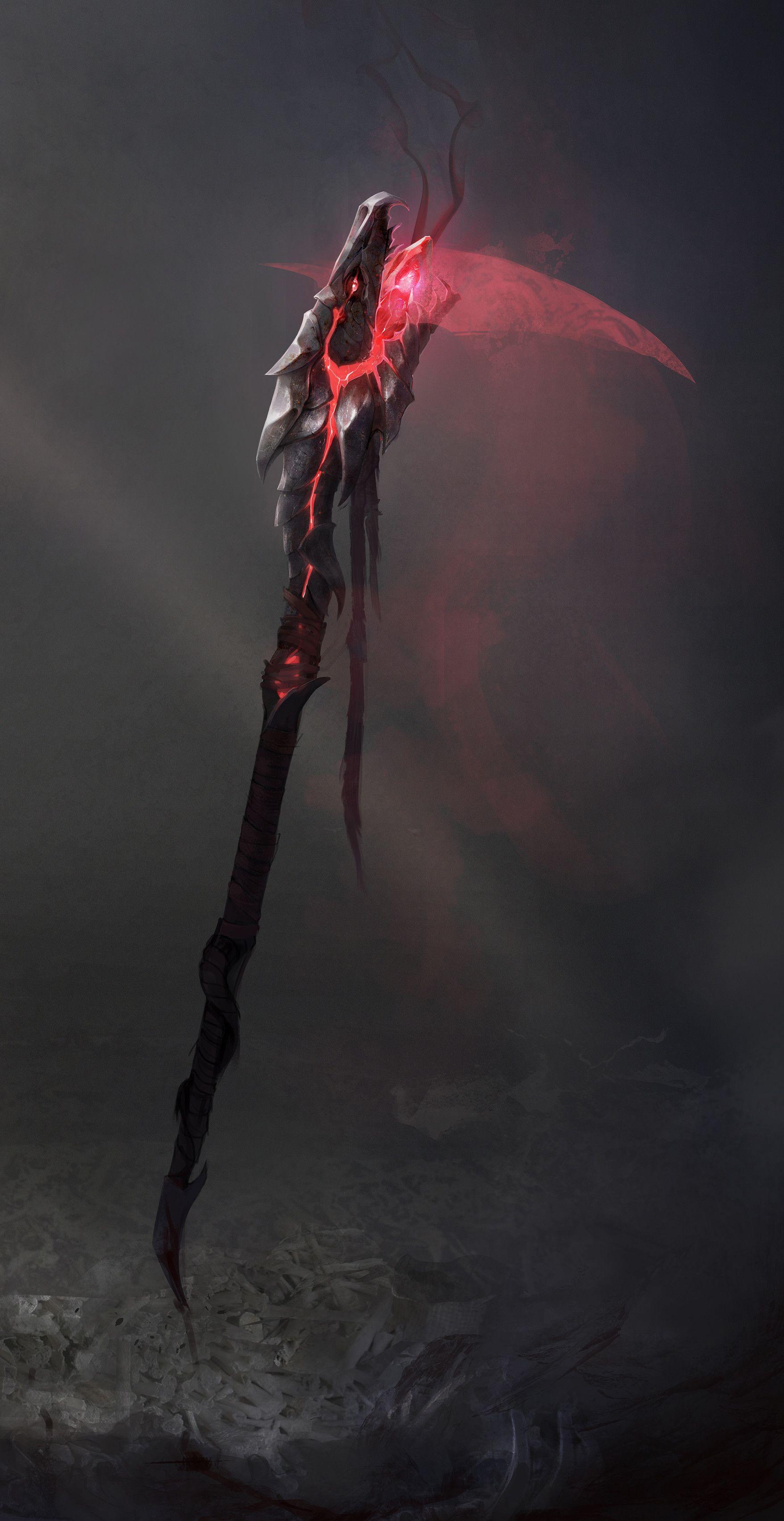 ArtStation Blood Mage concept Ewa Labak weapon