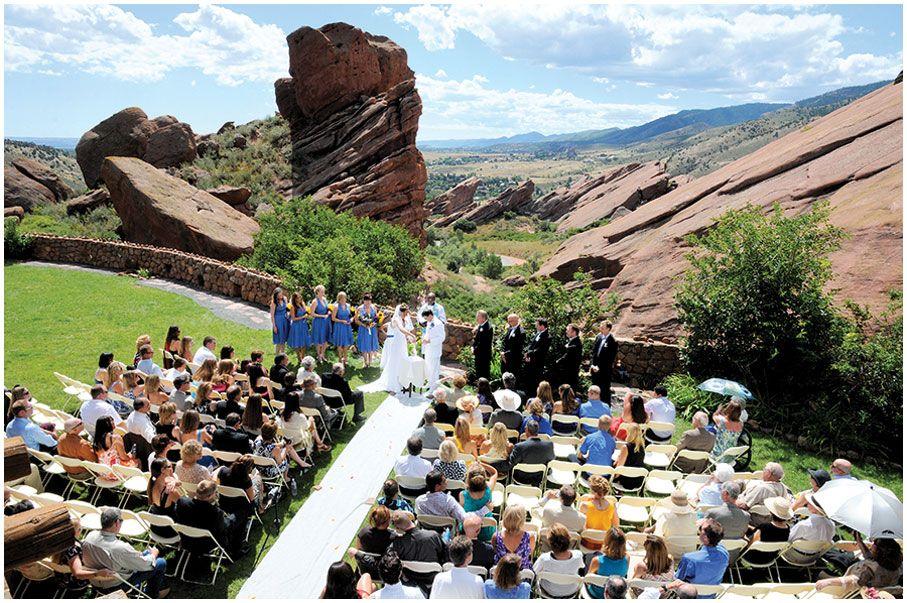 Congregation At Red Rocks Wedding In Golden Colorado