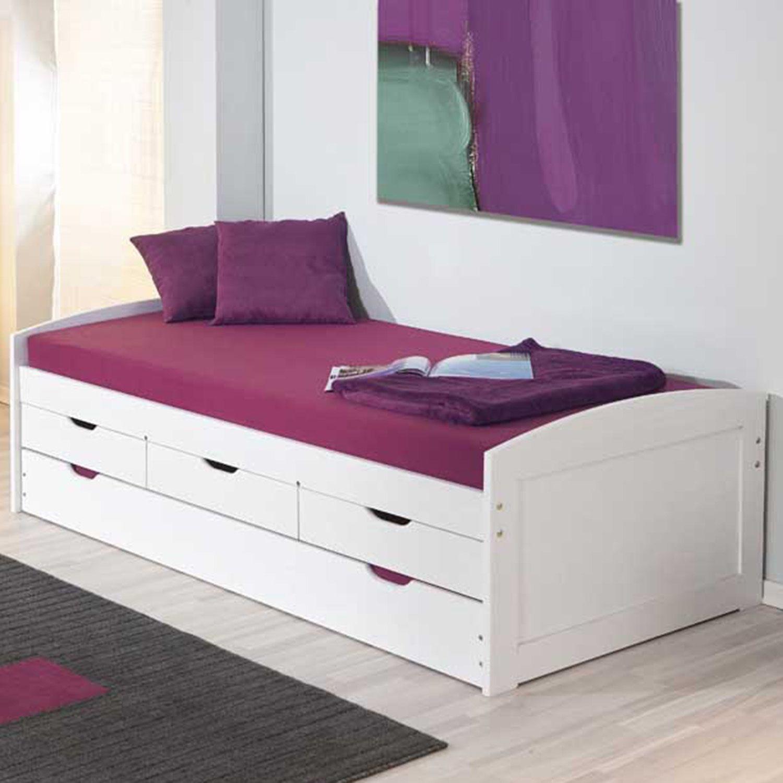 Bicama solteiro 3 gavetas em madeira maci a ulli inter - Modelo de camas ...