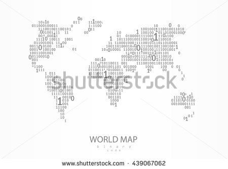 World map consist of binary code vector background for your world map consist of binary code vector background for your presentation poster website gumiabroncs Gallery