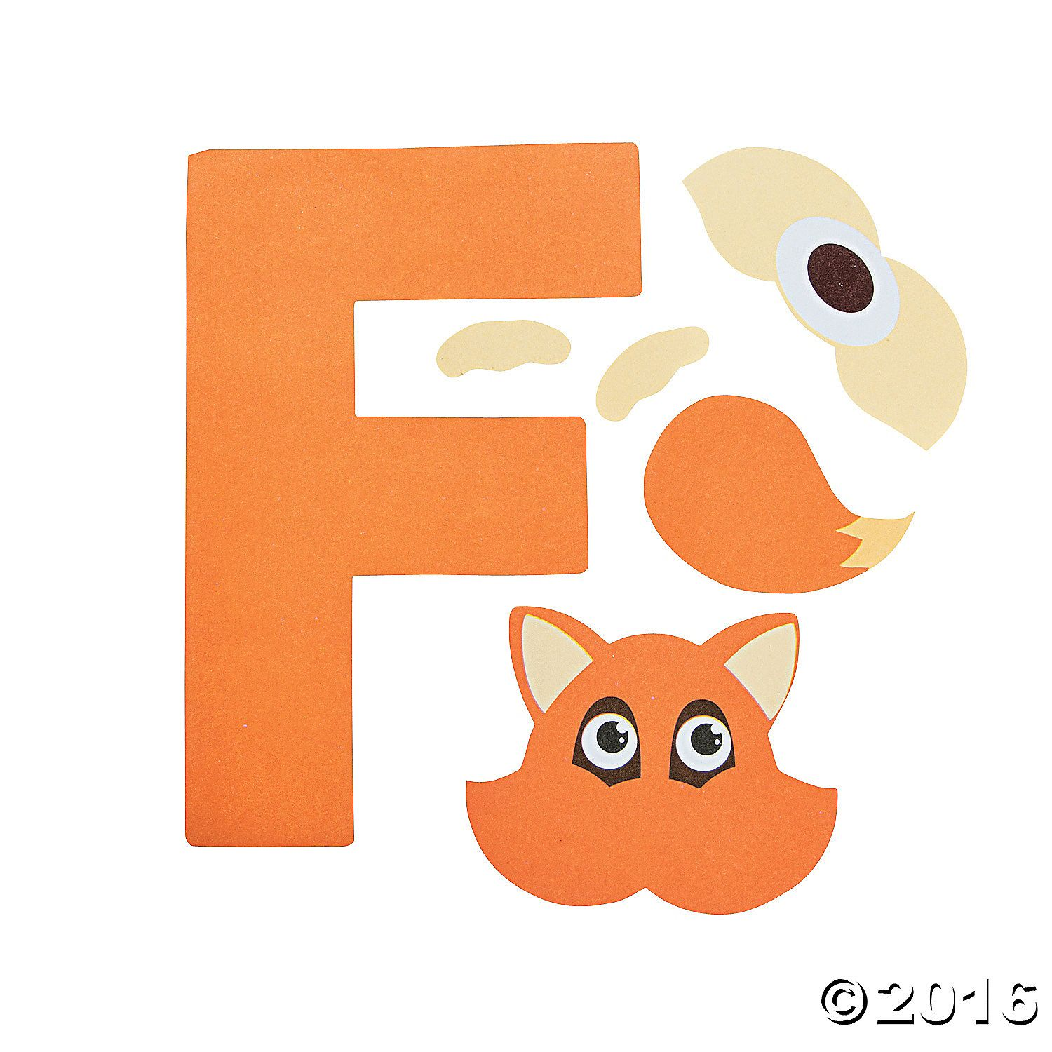 F Is For Fox Letter F Craft Kit 48 A01