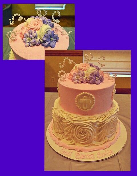 My Daughters Baptism Cake Made By The Specialist In Omaha NE