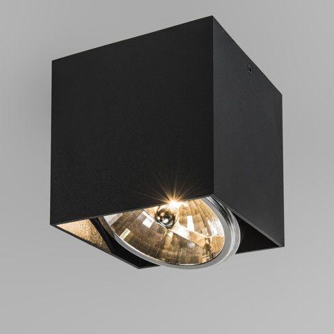 Spot Box 1 zwart - QAZQA.com   Bouwen-Verlichting   Pinterest
