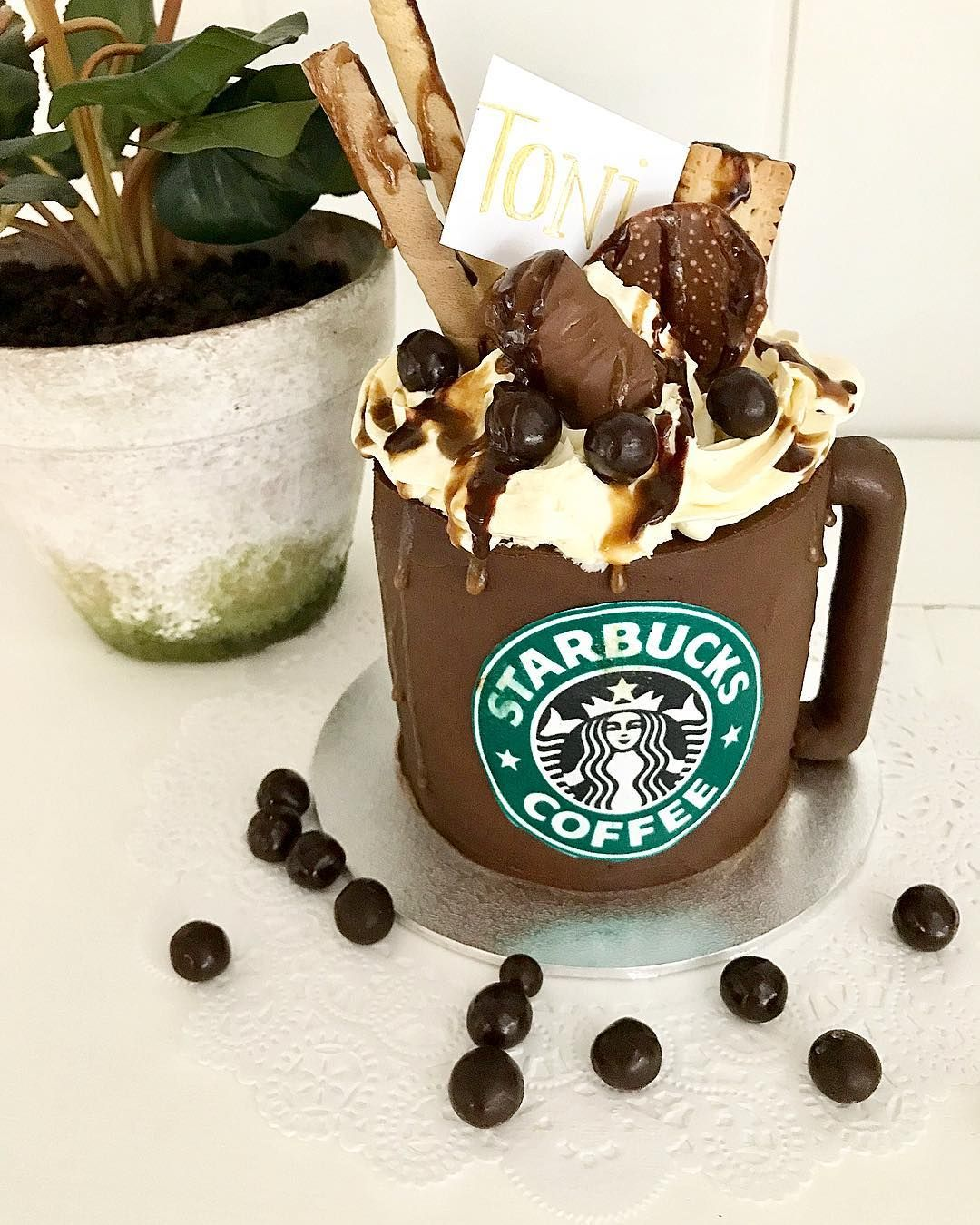 Pin by BriBriDIY on Starbucks cakes Starbucks cake