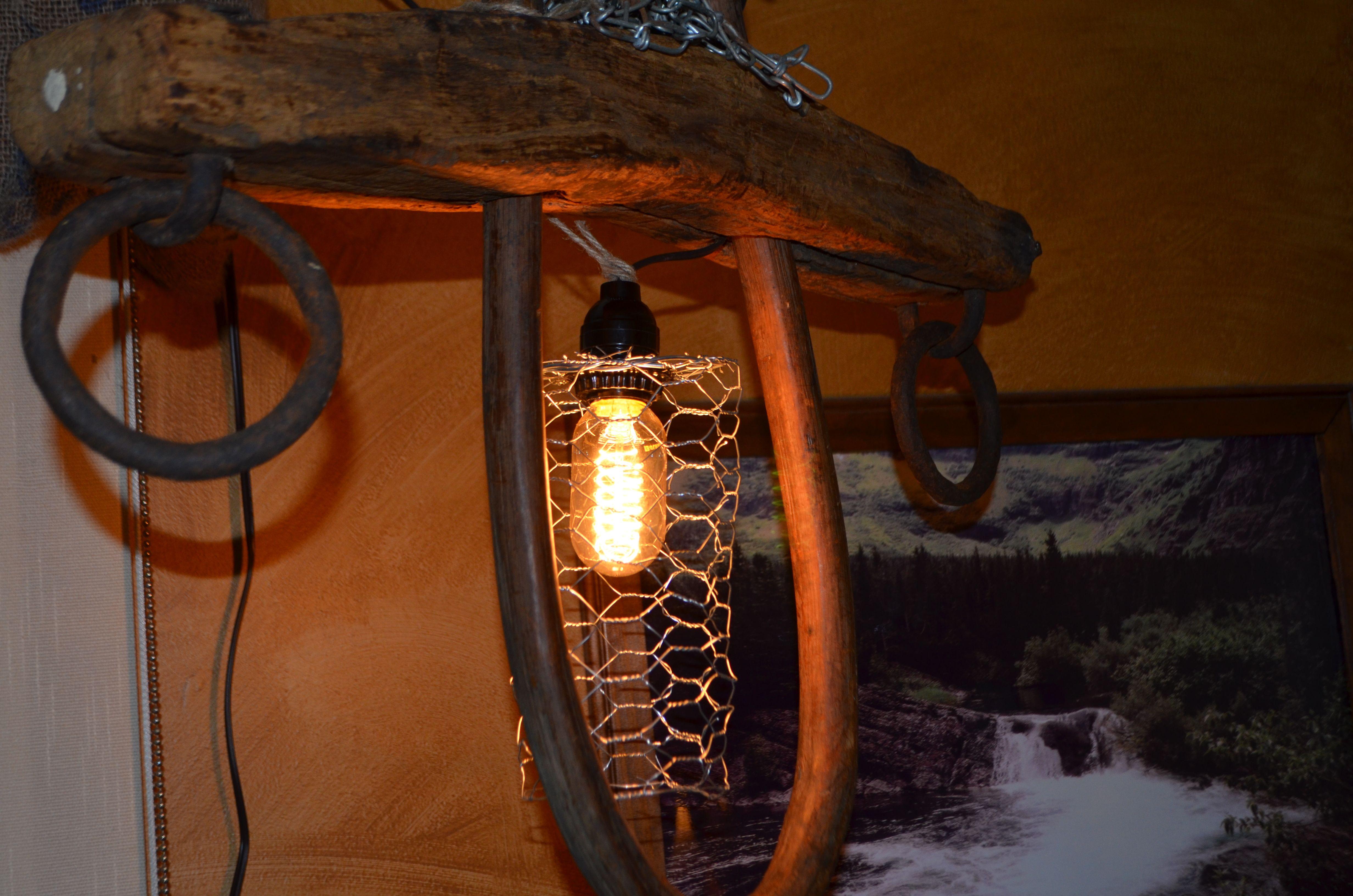 Amish Yoke Light Lighting Repurpose Western
