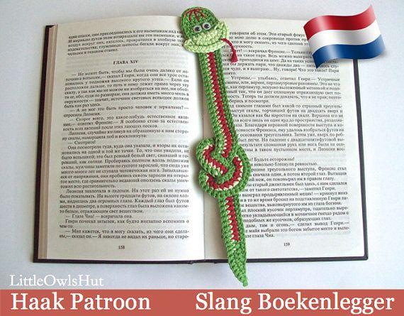 014nly Slang Boekenlegger Amigurumi Van Littleowlshutnl Op Etsy