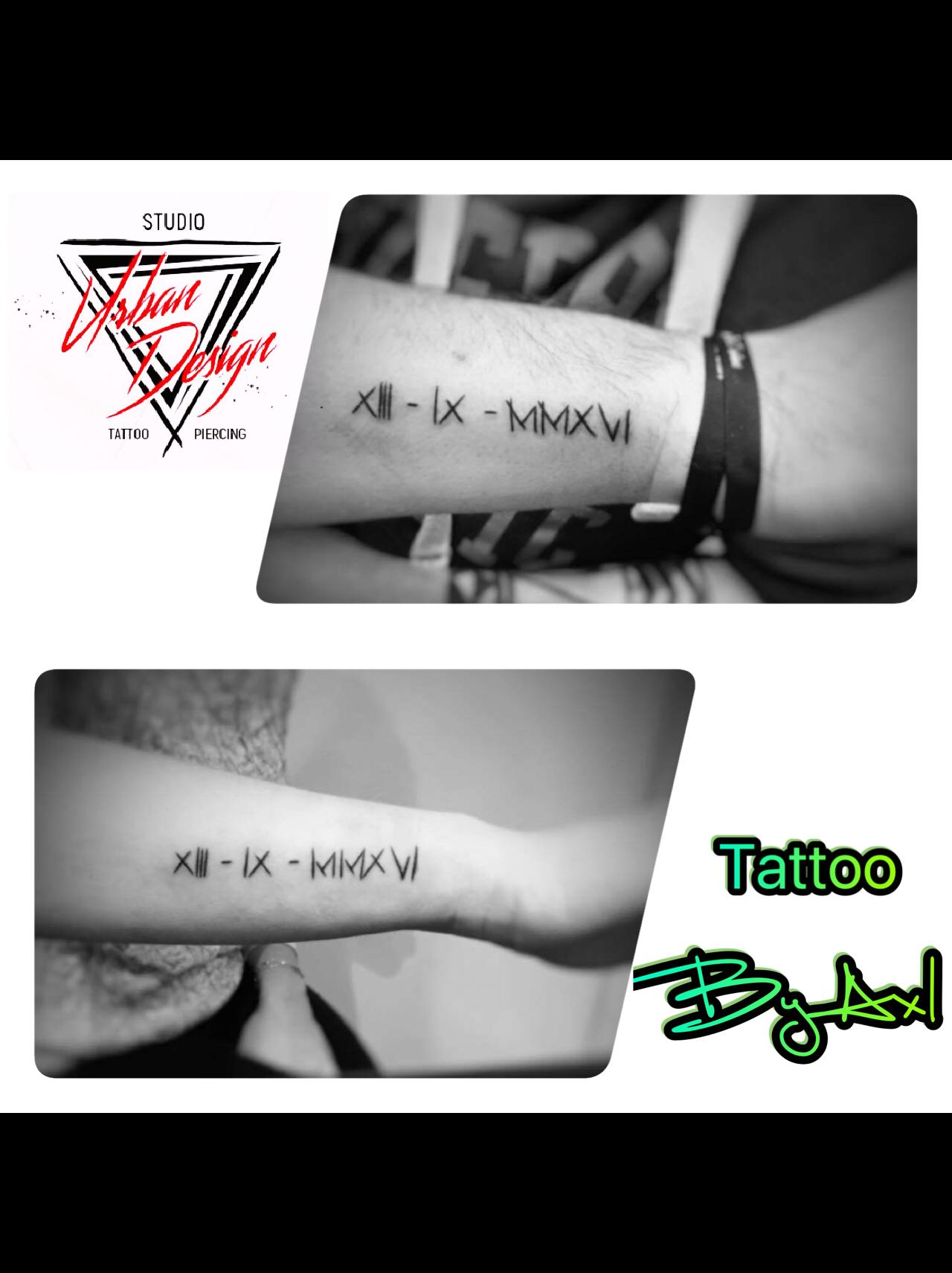 Tatouage Date En Chiffre Romain Tatouage En Commun Tatouage Avant