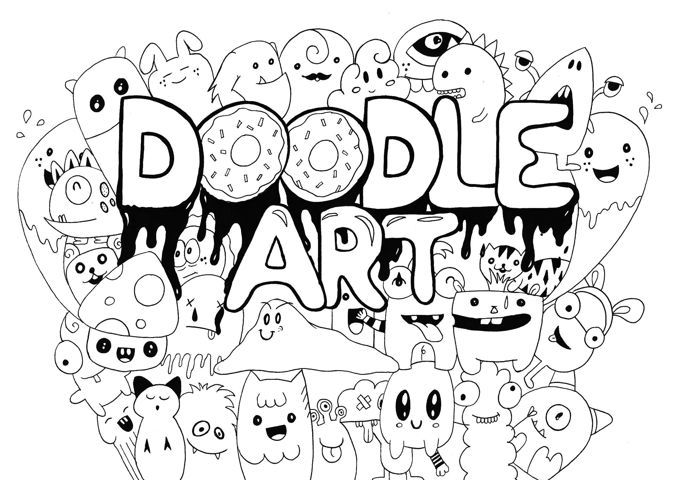 Probably, the one of our best Doodle Art coloring page., From the ...
