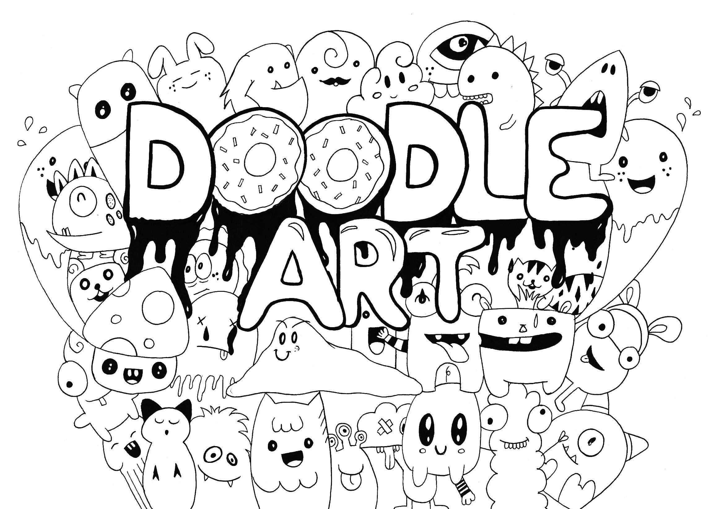 Doodle Art Rachel Doodle Art Doodling Coloring Pages For