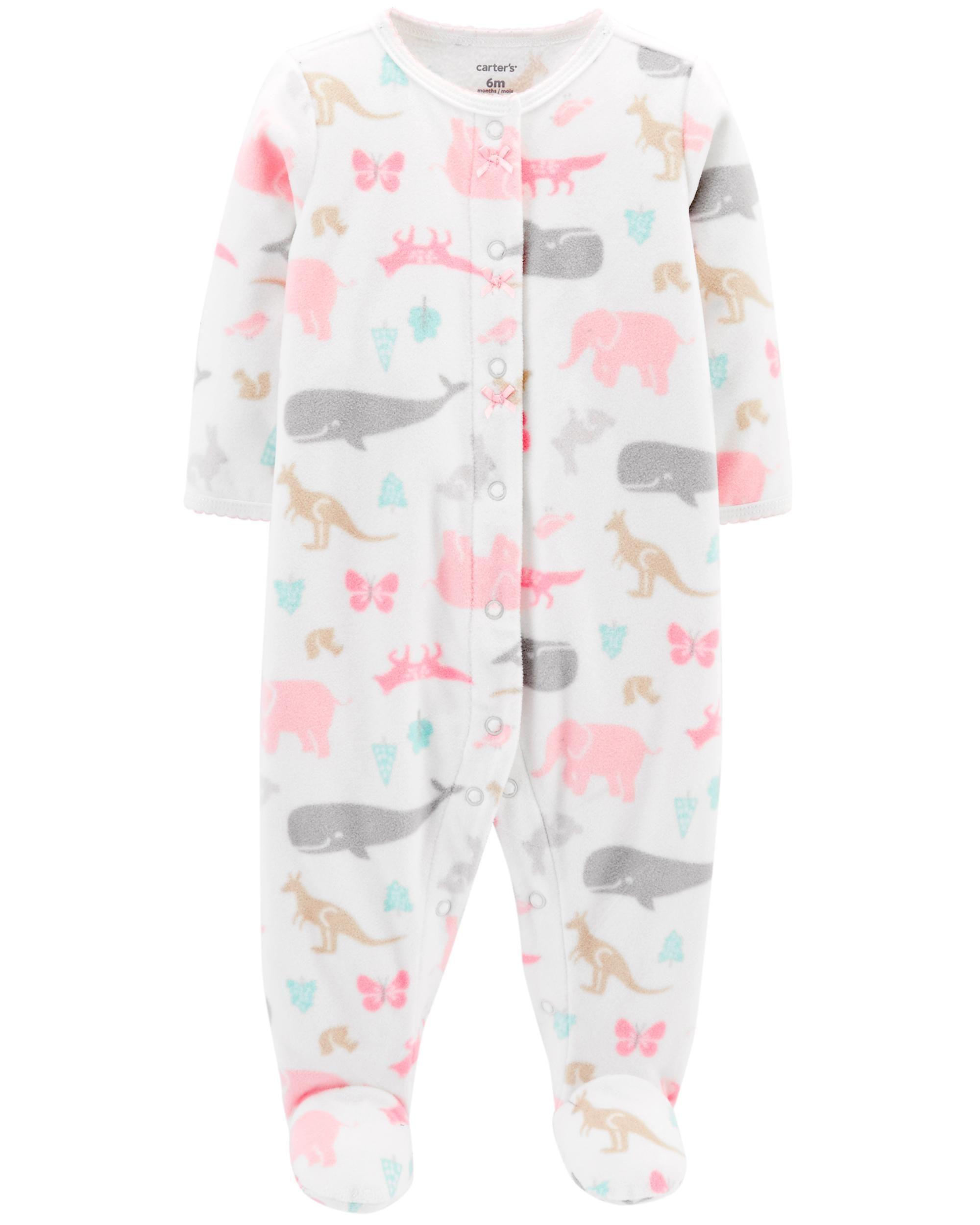 a812610bff0a Animal Snap-Up Fleece Sleep   Play