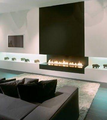 Ideas de chimeneas modernas (7 Fire places, House and Interiors - chimeneas modernas