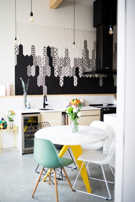 Hey maca modern montreal home tour apartment therapy also  has the best black and white tiles kitchen