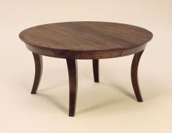 Amish made round dining table available sizes 48 x 48 for Non wood dining table