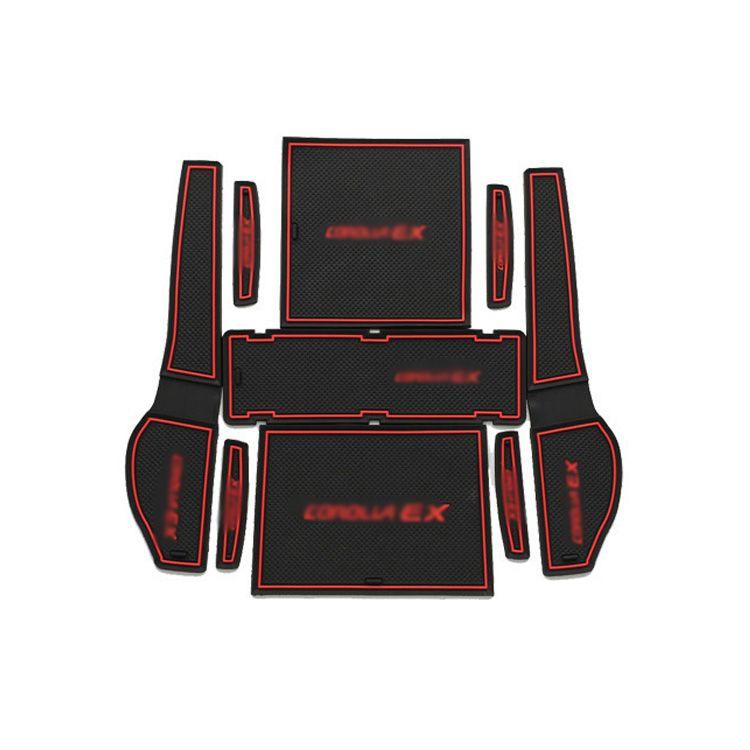 9pcs Non Slip Interior Door Slot Rubber Door Pad Cup Mat Door Gate Slot Door Groove Mat For Toyota Corolla Ex 2009 201 Toyota Corolla Doors Interior Cup Holder