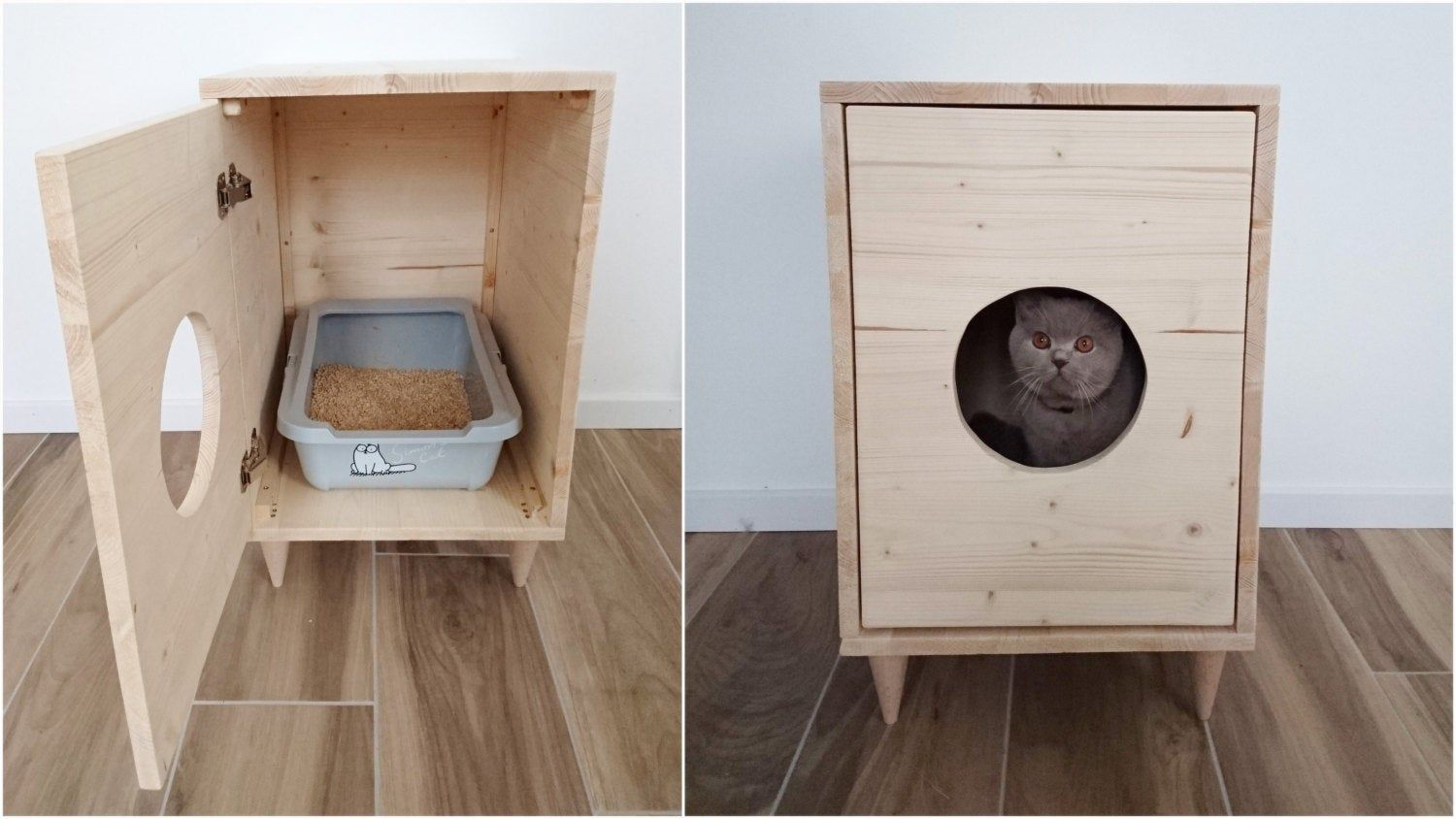 Cat Litter Box Cover Pet Furniture Cat House Modern Litter Box Cabinet Made Of Spruce Wood Muebles Para Mascotas Casita Para Gatos Cajas De Arena Para Gato